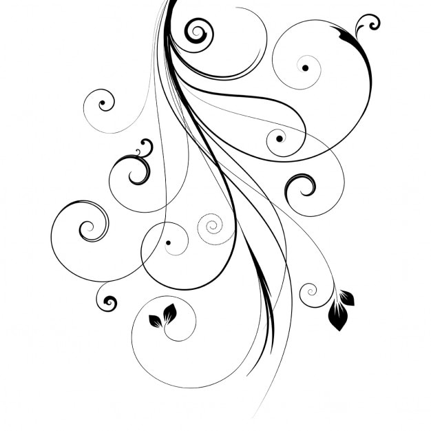White background with floral ornament