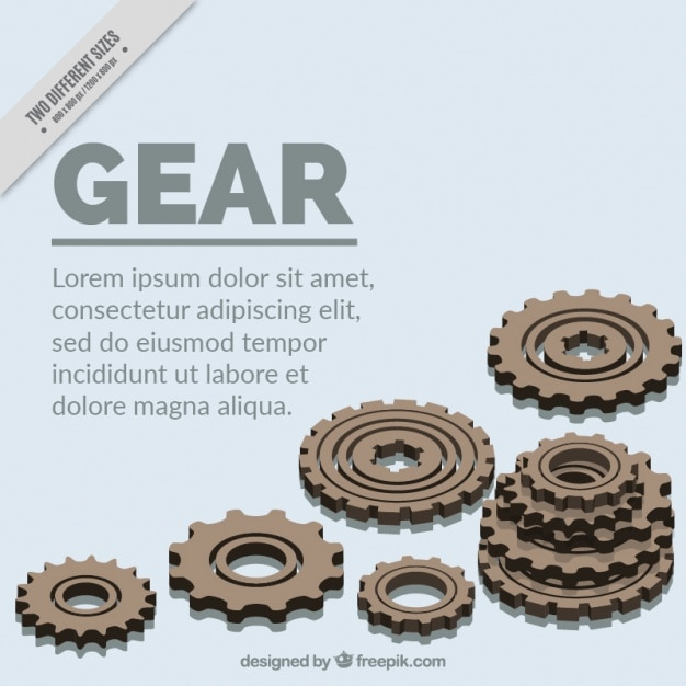 White background with gears Free Vector