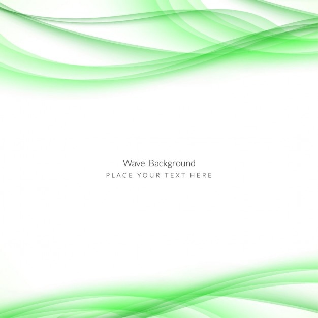 white background with green wavy lines vector free download