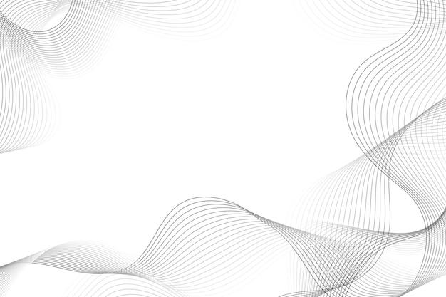 Белый фон с волнистыми линиями копирует пространство Бесплатные векторы