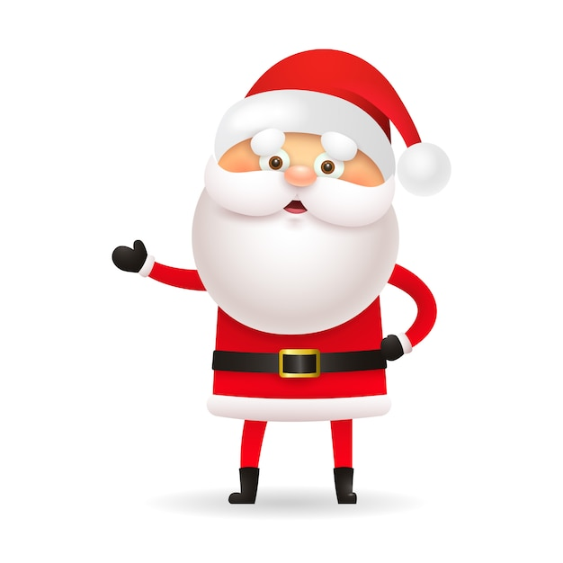 White-bearded santa claus gesturing hand Free Vector
