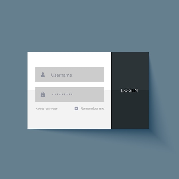 White And Black Login Template Vector Free Download