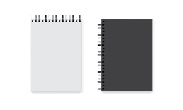 White and black notebook isolated Premium Vector