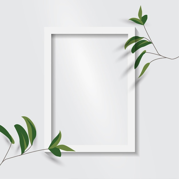 White blank picture frame. empty white picture frame isolated Premium Vector
