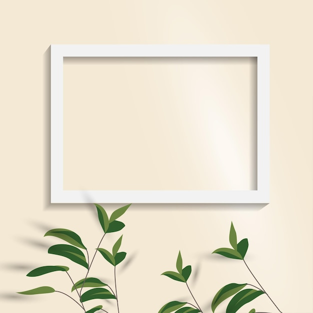 White blank picture frame. empty white picture frame isolated. Premium Vector