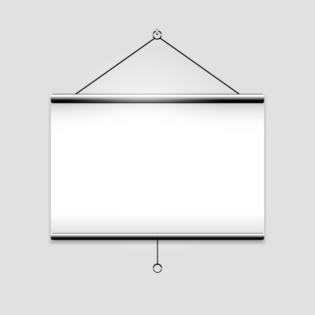 White blank screen projector clean with copyspace Premium Vector