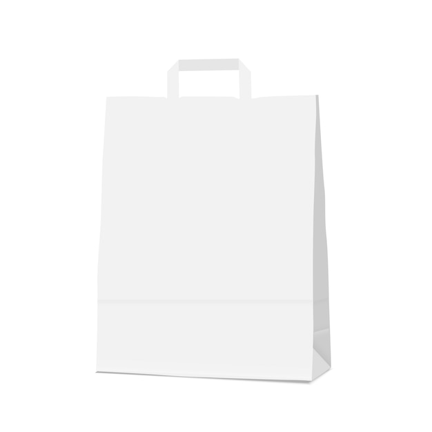 White blank shopping paper bag Vector | Premium DownloadWhite Paper Bag Vector