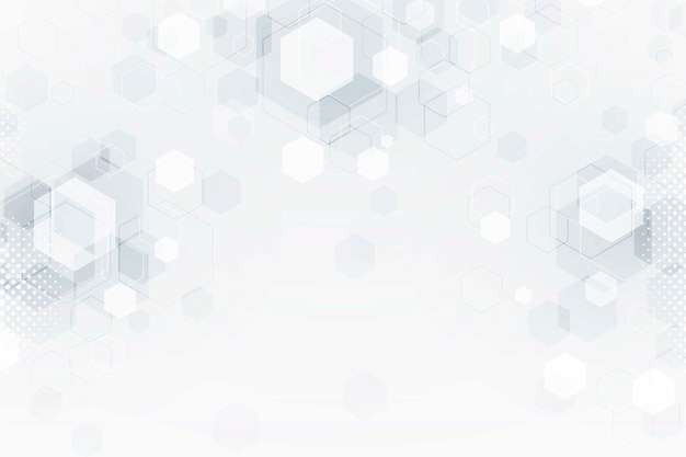 White blurred futuristic technology background Free Vector