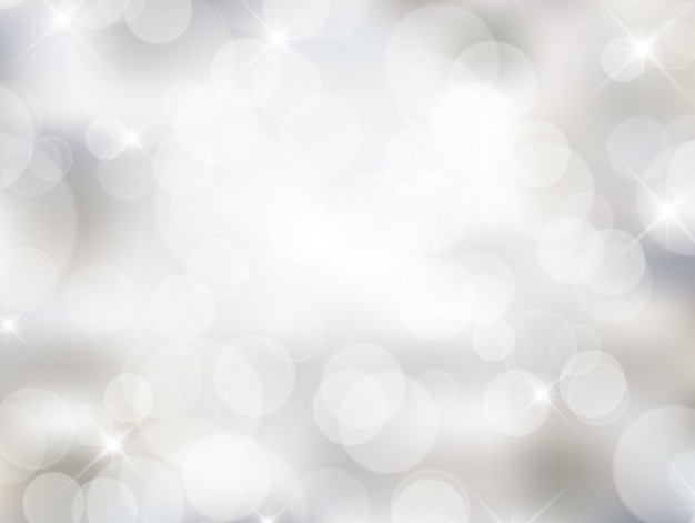 White Bokeh Background In Bright Style Vector Free Download