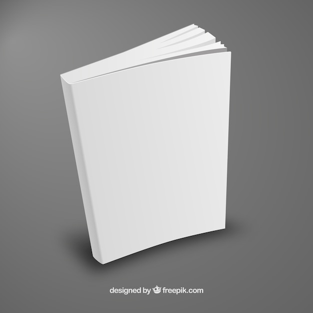 Book Cover Design Freepik : White book template in perspective vector free download