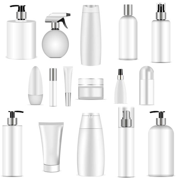 White bottle set. Premium Vector