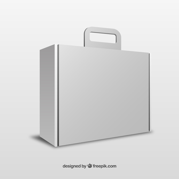 White Box With Handle Template Vector  Free Download