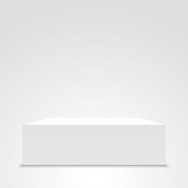 Белая коробка. , Premium векторы