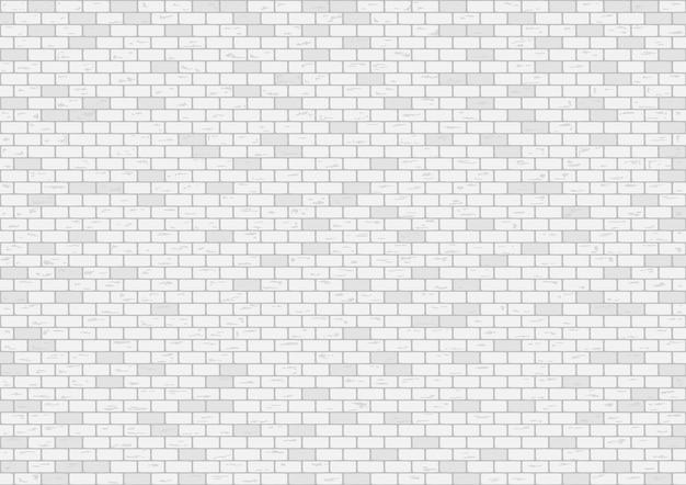White brick wall background vector illustration Premium Vector