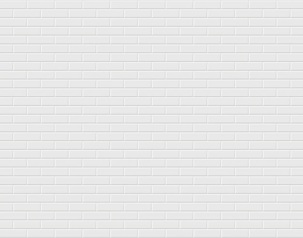 Premium Vector White Brick Wall Background