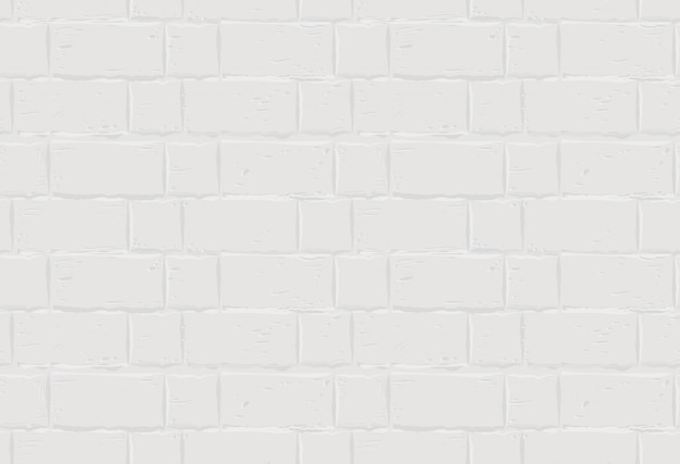Premium Vector White Brick Wall Seamless Texture Background