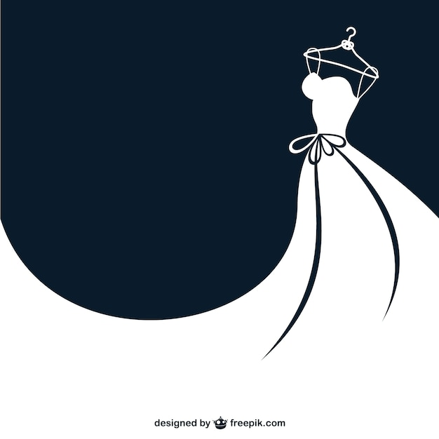White bride dress Free Vector