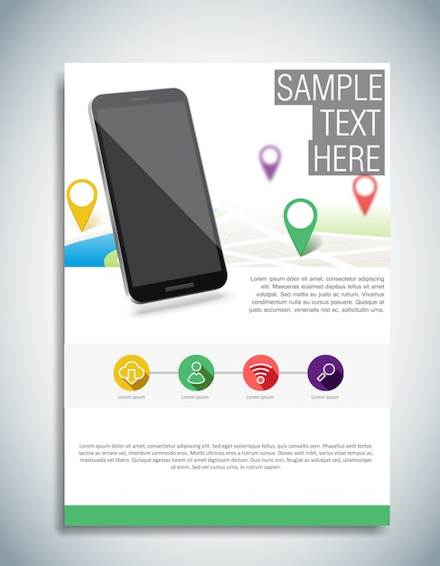 White Brochure Template Vector Free Download