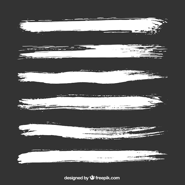 White brush strokes Free Vector