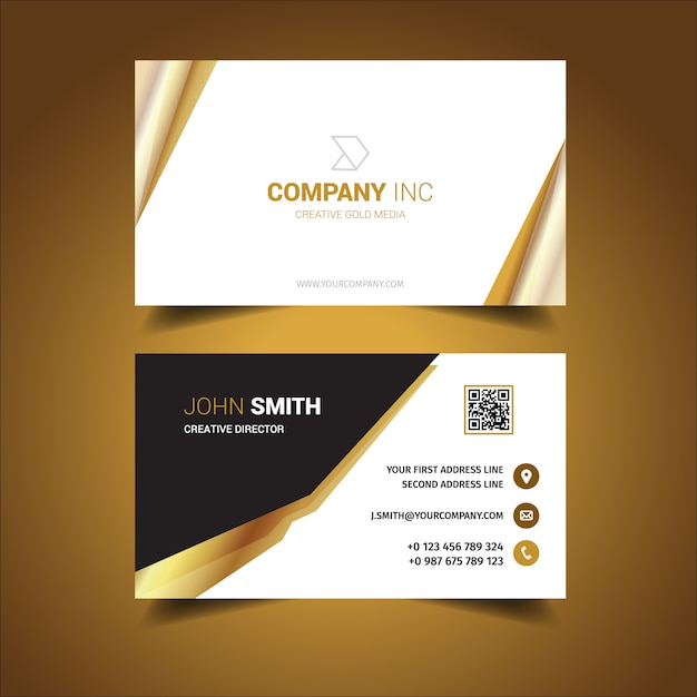 White business card design vector free download white business card design free vector reheart Image collections