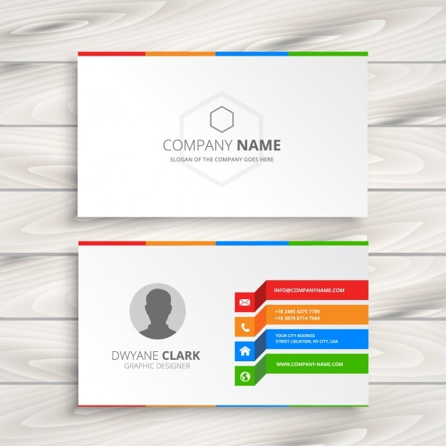 White Business Card Template Vector Free Download - Business card designs templates