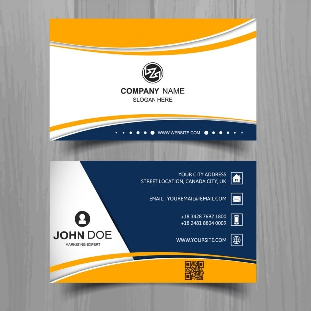 White business card with blue and yellow shapes vector free download white business card with blue and yellow shapes free vector colourmoves