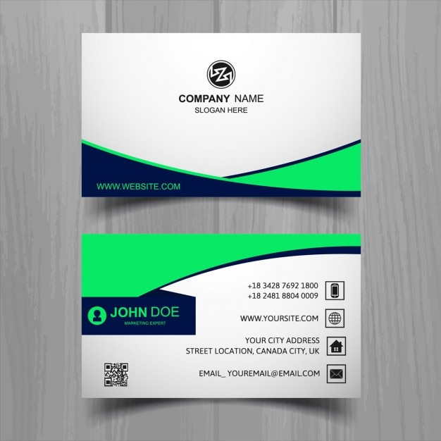 White business card with green forms vector free download white business card with green forms free vector reheart Images