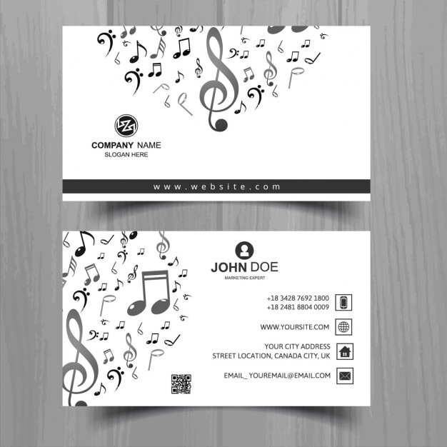White business card with musical notes vector free download white business card with musical notes free vector colourmoves