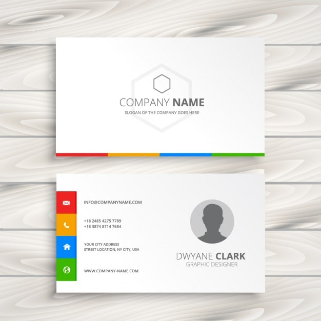 White business card vector free download white business card free vector reheart Gallery