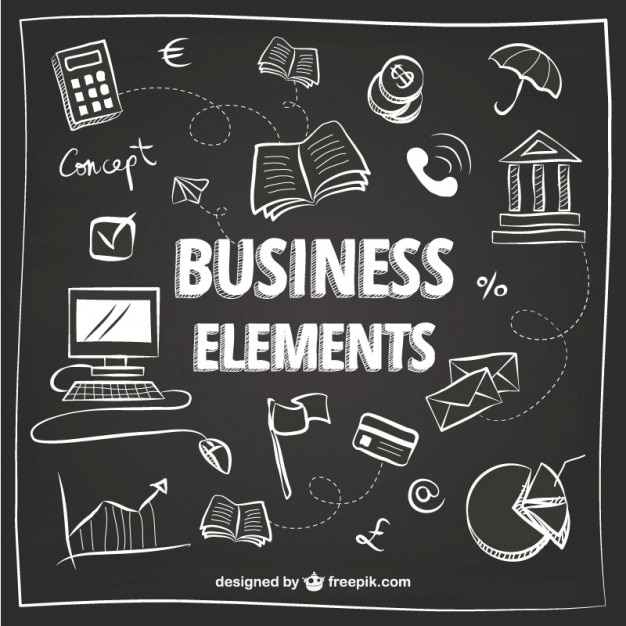 White business elements Free Vector