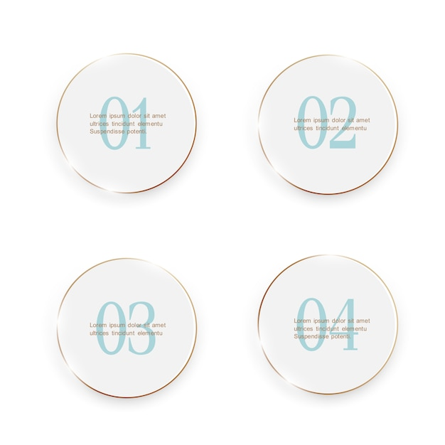 White buttons, umber options banners Premium Vector