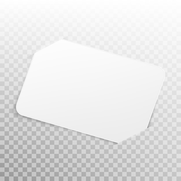 White card isolated on transparent background. Premium Vector