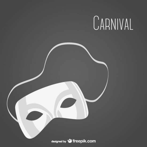 White carnival mask Free Vector