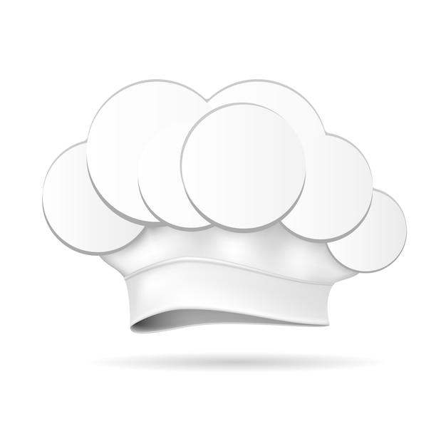 Белая шляпа шеф-повара изолированные Бесплатные векторы