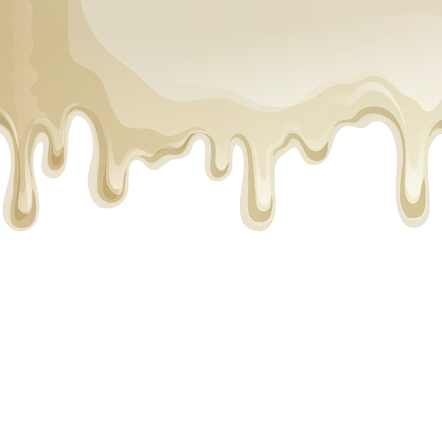 White chocolate drips background Free Vector