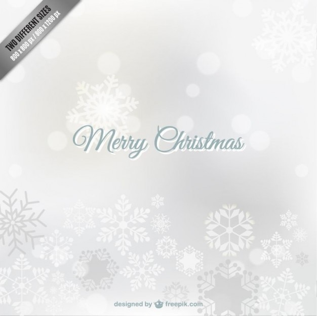 White Christmas Background With Snowflakes Vector Free