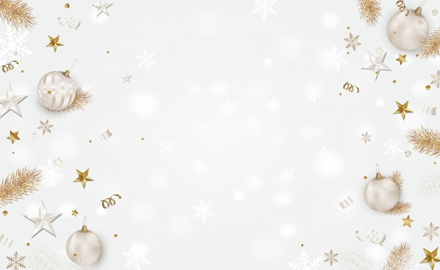 White christmas background with space for text Premium Vector