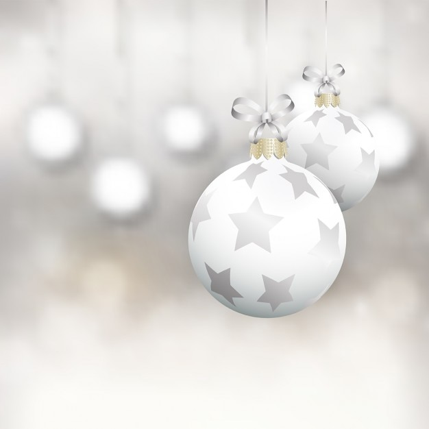 White christmas balls Vector | Free Download