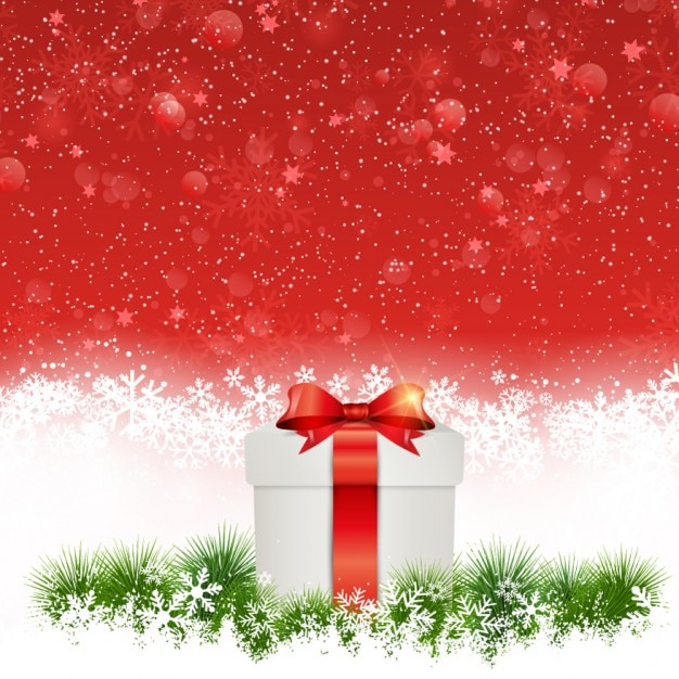 Christmas Gift Background: White Christmas Gift Background Vector