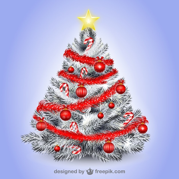 White Christmas tree illustration