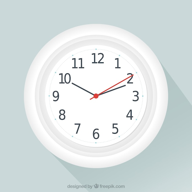 White clock Free Vector
