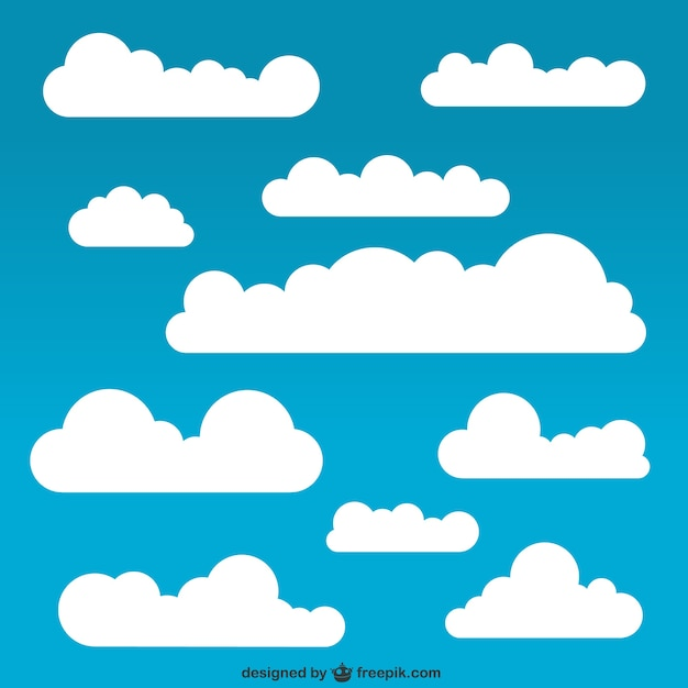White clouds pack Vector | Free Download