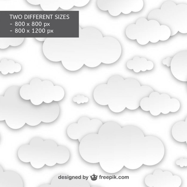 White clouds pattern Free Vector