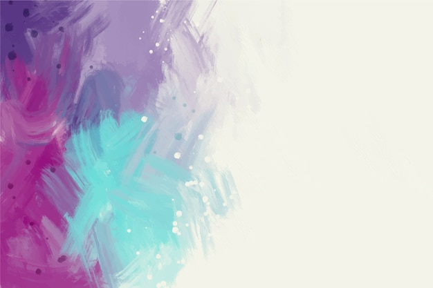 White copy space and cold colours hand painted background Free Vector