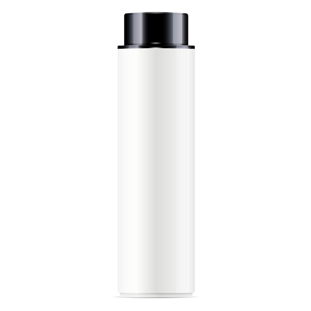 White cosmetic bottle facial toner Premium Vector