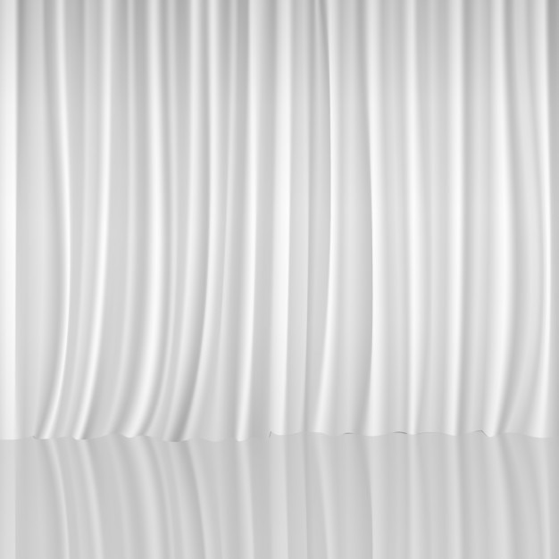 White Curtain Background Free Vector