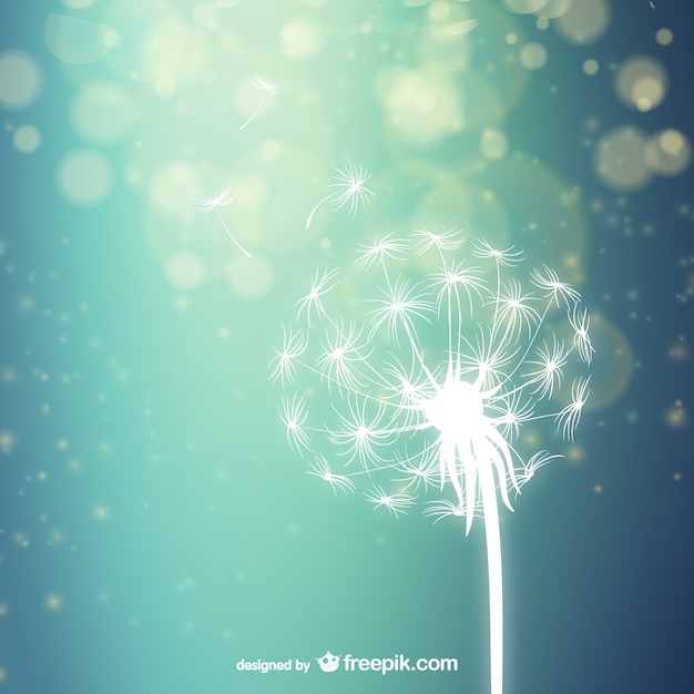 White dandelion silhouette vector free download white dandelion silhouette free vector mightylinksfo