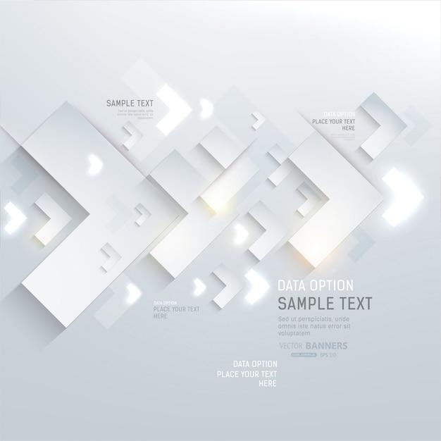 white decor futuristic idea shape Premium Vector