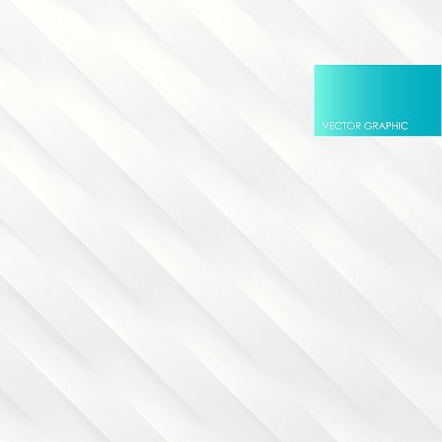 White diagonal wavy stripes, vector abstract background. Premium Vector