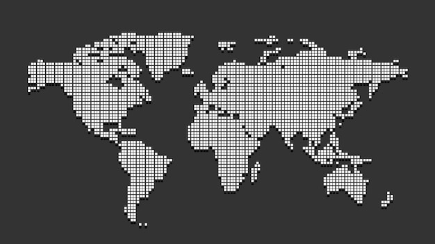 White dotted world map Premium Vector